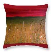 Meadows Autumn Sunset  Throw Pillow