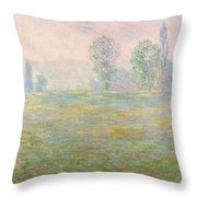 Meadows In Giverny Throw Pillow