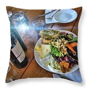 Meal -fit For A King Throw Pillow