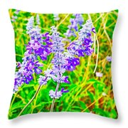 Mealy Blue Sage Throw Pillow