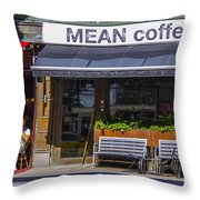 Mean Coffee Throw Pillow