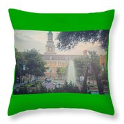 Mean Green Throw Pillow