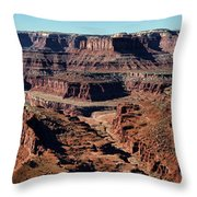 Meander Overlook - Dead Horse Point - Panorama Throw Pillow