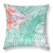 Meandering Moth Throw Pillow