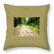 Estelle Spelled In Pinecones Throw Pillow