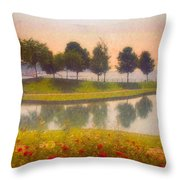 Measured Reflections Throw Pillow