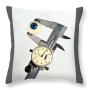 Measuring By Eye Throw Pillow