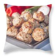 Meat Balls Throw Pillow
