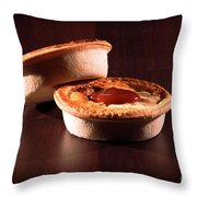 Meat Pies With Sauce And High Contrast Lighting. Throw Pillow
