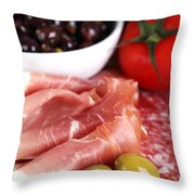Meat Platter  Throw Pillow by Jane Rix