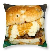 Meatloaf And Mashed Potato Sandwich Throw Pillow