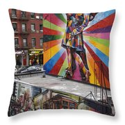 Meatpacking District Nyc Throw Pillow