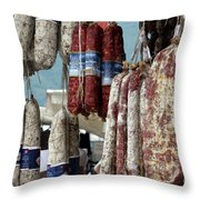 Meats And Sausages  Throw Pillow
