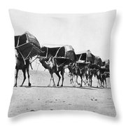 Mecca: Caravan, C1910 Throw Pillow