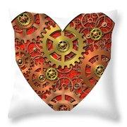 Mechanical Heart Throw Pillow by Michal Boubin