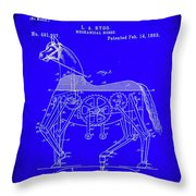 Mechanical Horse Patent Art 1b           Throw Pillow
