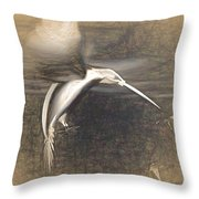 Mechanical Hummingbird Throw Pillow