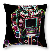Mechanical Mighty Sparking Robot Throw Pillow