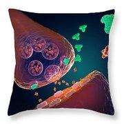 Mechanics Of Serotonin Drugs Throw Pillow