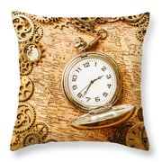 Mechanisms In Industrial Time Throw Pillow