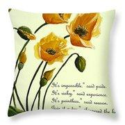 Meconopsis  Poem Throw Pillow