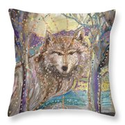 Medeina, Power And Strength Of The Forest Throw Pillow