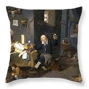 Medical Alchemist Throw Pillow