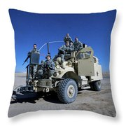 Medical Personnel Pose For A Group Throw Pillow