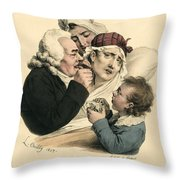 Medical Practitioner Administers Throw Pillow