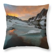 Medicine Bow Peak Throw Pillow by Dustin LeFevre