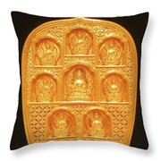 Medicine Buddha Tsatsa Throw Pillow