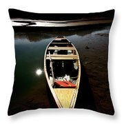 Medicine Lake In Jasper National Park Throw Pillow