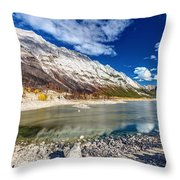 Medicine Lake Jasper Throw Pillow