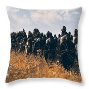 Medieval Army In Battle - 04 Throw Pillow