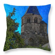 Medieval Bell Tower 1 Throw Pillow