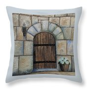 Medieval Door Throw Pillow