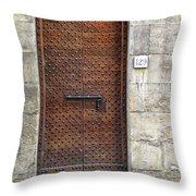 Medieval Florence Door Throw Pillow