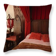 Medieval Glamping Tent Throw Pillow