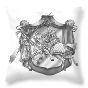 Medieval Jousting Throw Pillow