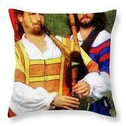 Medieval Minstrels Throw Pillow