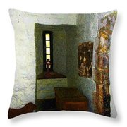 Medieval Monastic Cell Throw Pillow