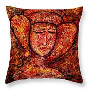 Medieval Noble Lady Throw Pillow