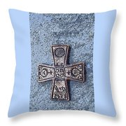 Medieval Nordic Cross Throw Pillow