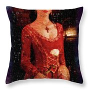 Medieval Rose Throw Pillow