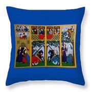 Medieval Scene Throw Pillow