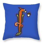 Medieval Squirrel Letter I Throw Pillow