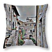 Medieval Street Throw Pillow