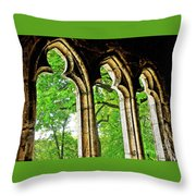 Medieval Triptych Throw Pillow