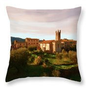 Medieval Tuscany Throw Pillow
