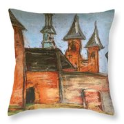 Medieval Walls Throw Pillow